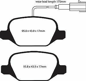 DP21430//2 EBC Greenstuff Rear Brake Pads fit ALFA Mi.To
