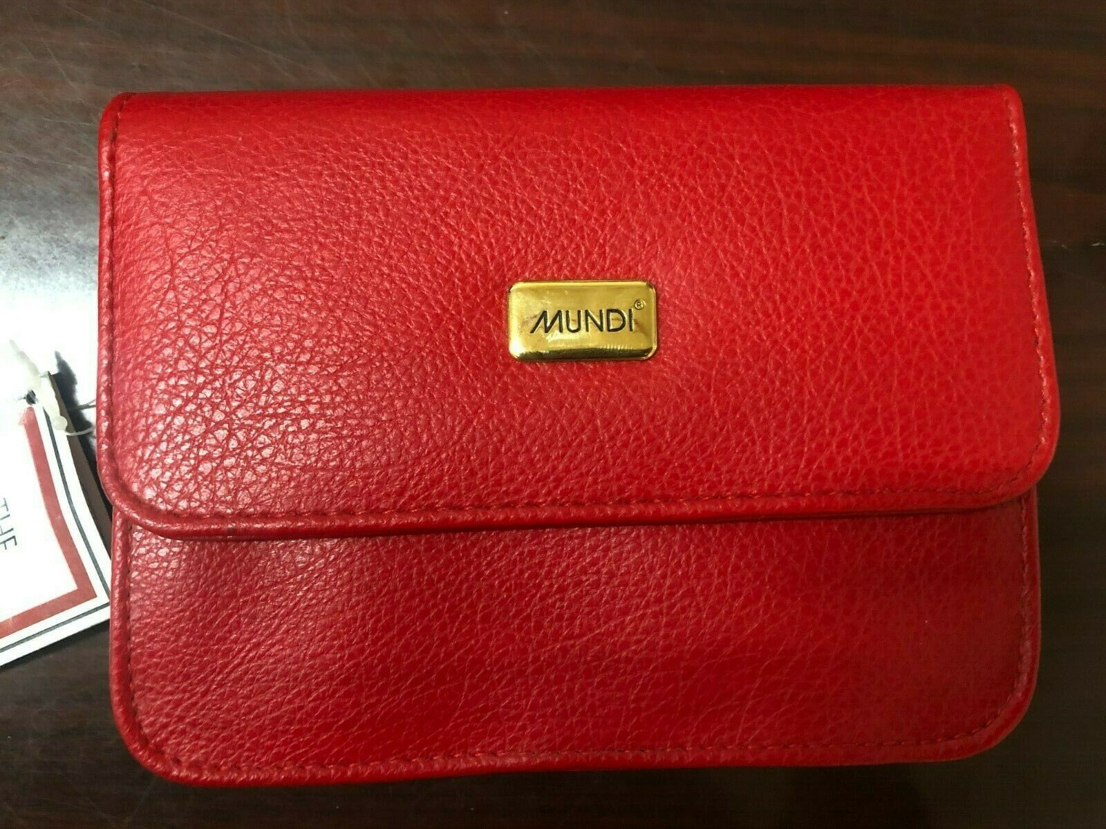 Mundi Vintage Red Leather Small Purse Shoulder Strap Handbag - NEW with tags