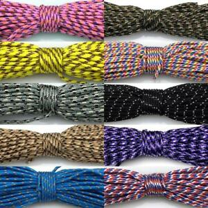 29-Colors-50-100FT-Micro-Cord-Paracord-2mm-Tent-Camping-Guy-Rope-Parachute-Cord