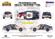 [FFSMC Productions] Decals 1/28 Porsche 911 Kronos East African Safari for miniZ