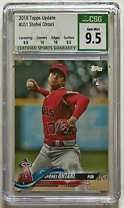 2018 Topps Update Shohei Ohtani RC #US1 CSG 9.5 GEM MINT w/ 2 10 Subs Rookie