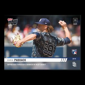 2019-TOPPS-NOW-Chris-Paddack-30-San-Diego-Padres-Rookie-RC-PR-615-SP
