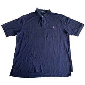 Details about Mens 2XLT Polo Ralph Lauren Blue Short Sleeve Pony Golf Polo Shirt XXL Tall