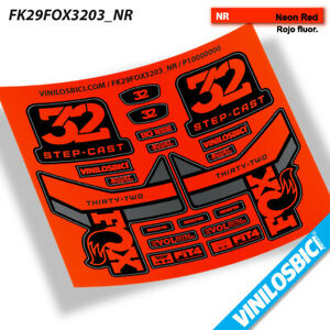 PEGATINAS HORQUILLA FORK FOX 36 PERFORMANCE ELX58 STICKERS AUFKLEBERS DECALS