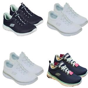Da Donna Skechers Scarpe da ginnastica corsa passeggio vertici Scarpe Casual Infilare Sneaker