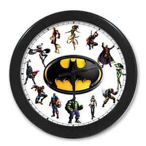 Hw home decor unique cool superheroes batman digital Cool digital wall clock