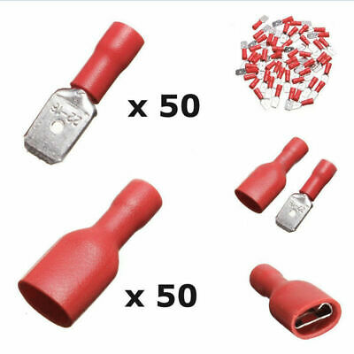 100PCS Female Male Insulated Crimp Terminals 0.5-1.5mm2 22-16AWG Wire cross