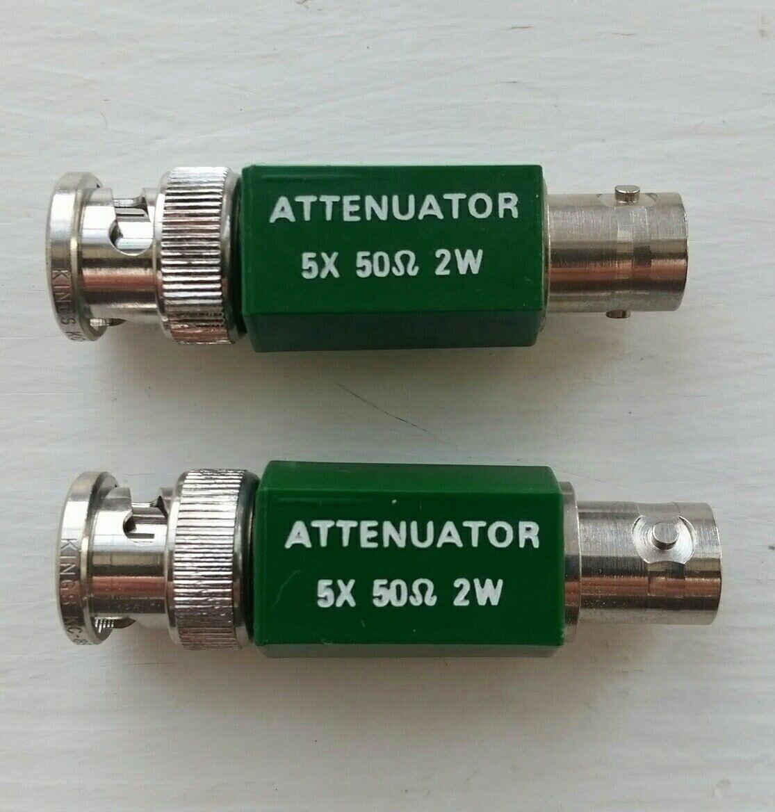 Tektronix Feed Through Terminator  5X Attenuator  2 W   50 Ohm  011-0060-02  BNC