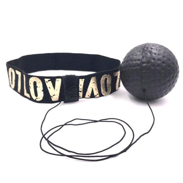 Fight Ball Reflex Boxing REACT Training Boxer Speed Punch Head Cap String BaJB