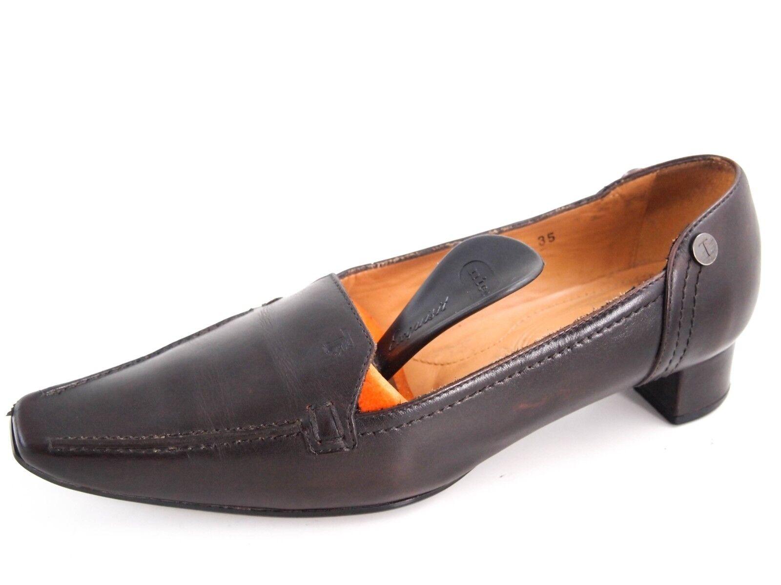 vendita di offerte Tod's low heel    pumps, Marrone leather, Donna Dimensione US 5 EU 35  480  supporto al dettaglio all'ingrosso