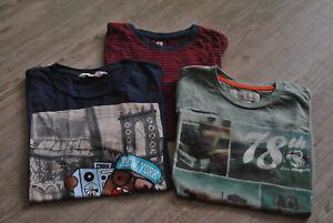 Gr.134 / 140 Neuwertig 3 Stück Der GüNstigste Preis T-shirt