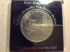 Crown Coin 1980 Queen Mother 80th Birthday