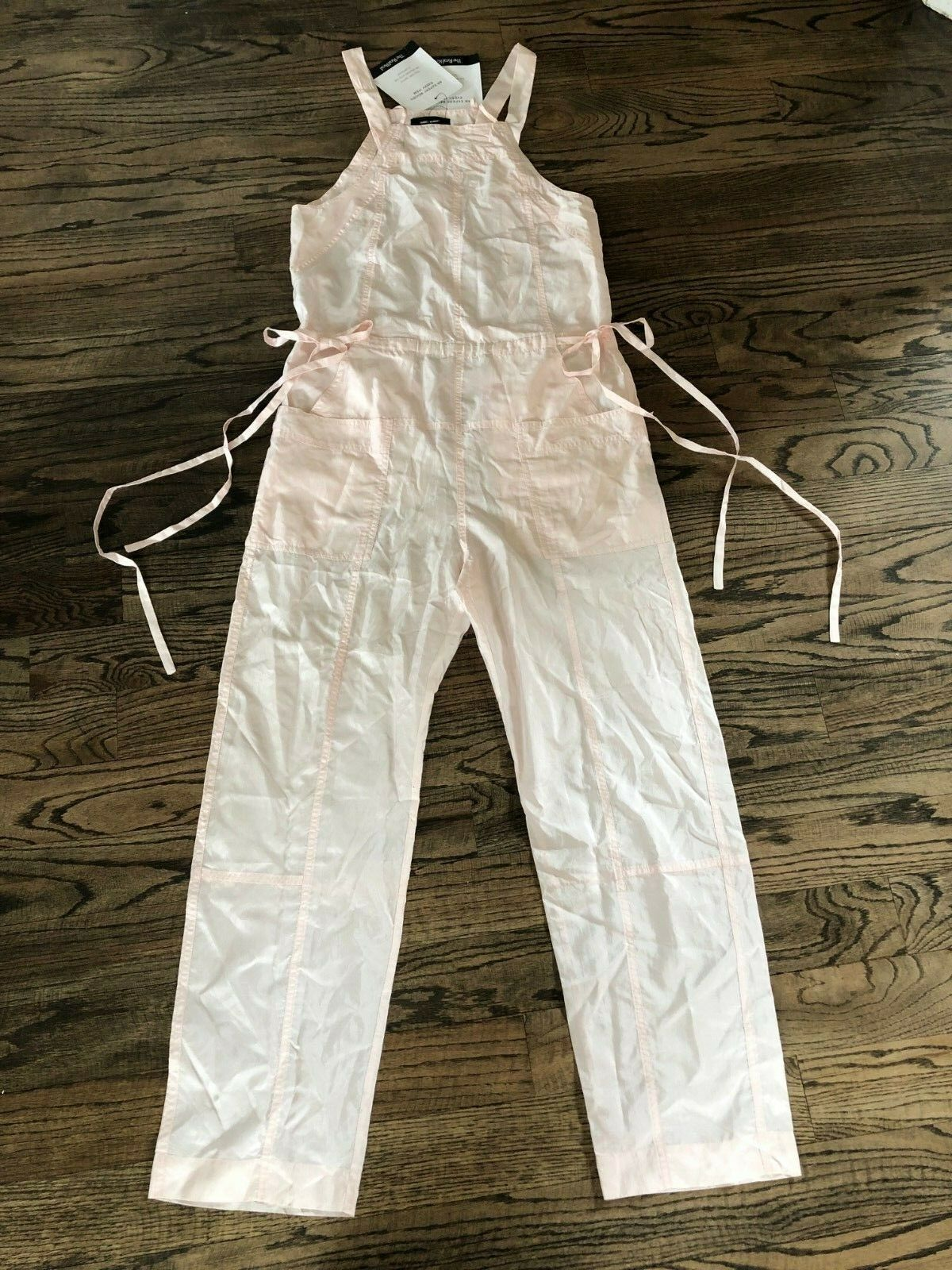 Isabel Marant Sporty Silk Kyles Jumpsuit Runway Light Pink Sz 4 NWT MSRP  1,015