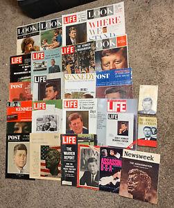 Life Magazine 1960s Lot of 24 1961 JFK Politics Celebrities Car Ads Space
