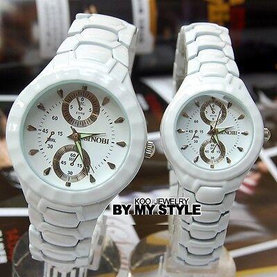 New Fashion Mens Ladies White Black Watches Quartz Wrist Watch Women