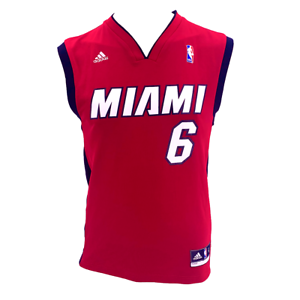 Details about Adidas NBA Miami Heat LeBron James #6 Mens Small Embroidered Basketball Jersey