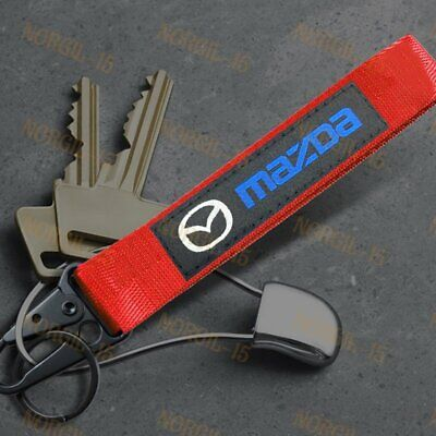 Tuning/_Store Mazdaspeed Red Racing Keychain Metal Key Ring Hook Strap Lanyard Nylon for Mazda Quality Accessories for Car Tuning