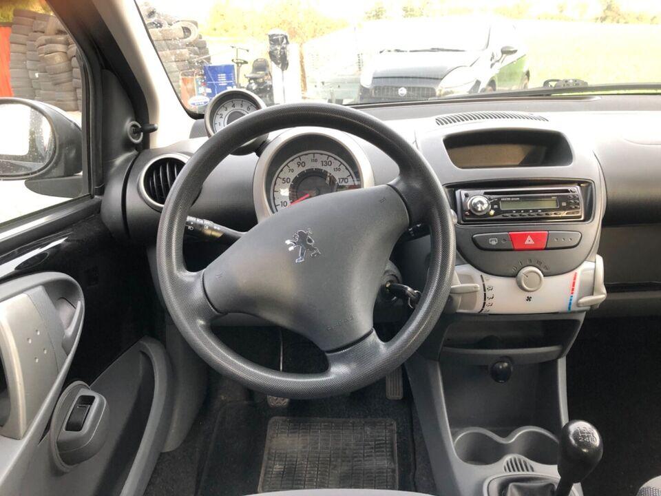 Peugeot 107 1,0 Benzin modelår 2007 km 124000 Sortmetal ABS