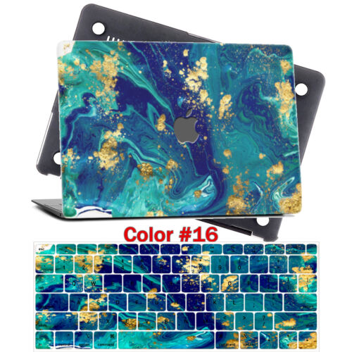 """Matt Marble Design Printed Hard Case Shell Keyboard Cover For Macbook PRO 13/""""NEW"""