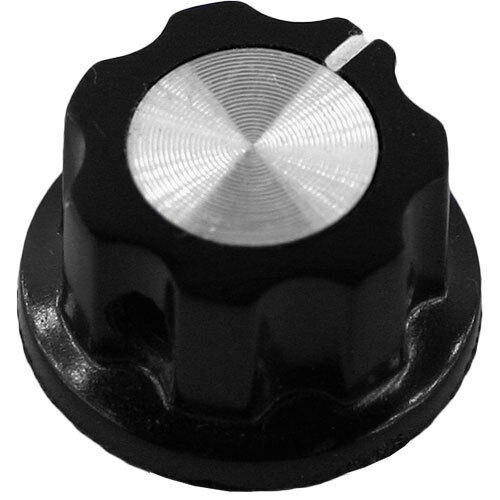 Guitars Mini Black Knob with Silver Insert and Indicator for Pedals Amps