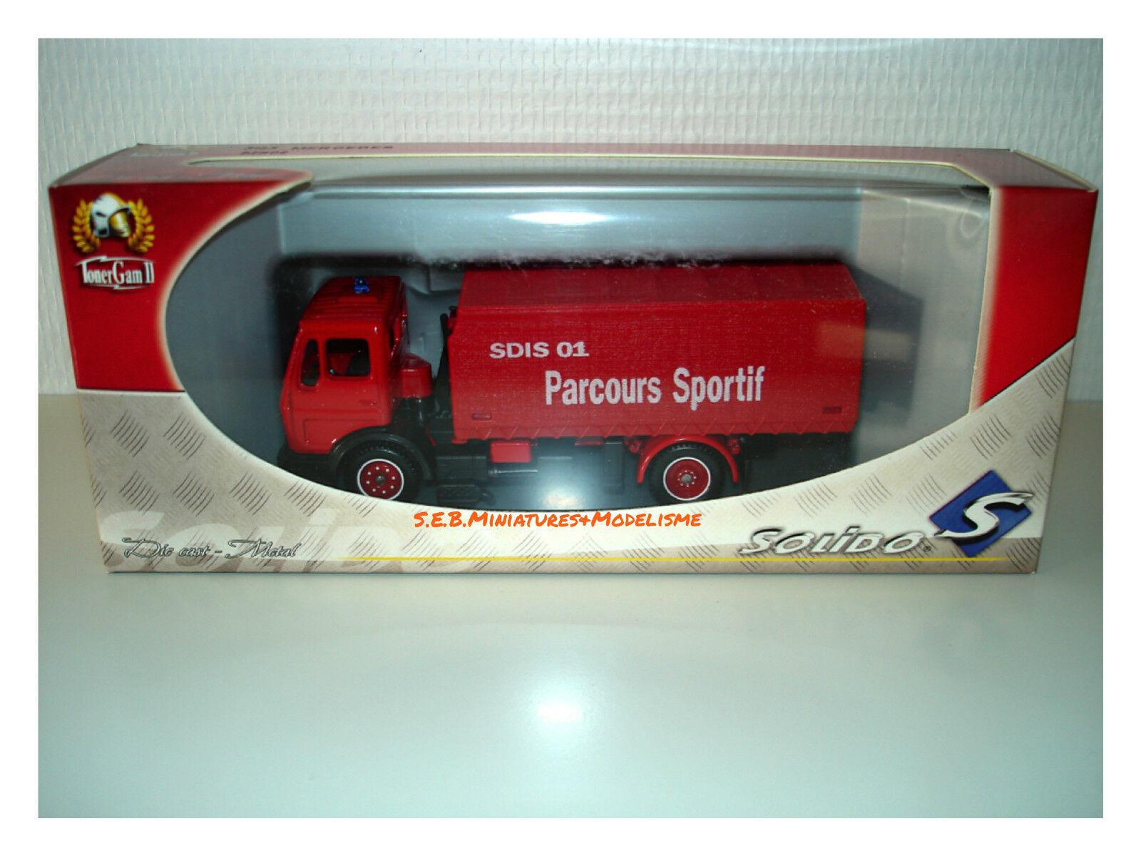 Mercedes-Benz SDIS 01 Parcours Parcours Parcours sportif camion Pompiers  1 50 SOLIDO 25c3d8