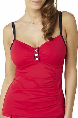 Panache Swimwear Veronica Tankini Top Red SW0641