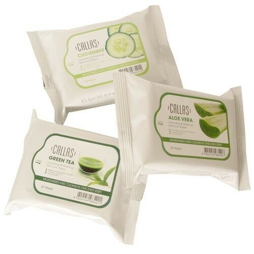 Callas Cleansing & Make-up Remover Wipes 30 Wipes All Skin Types