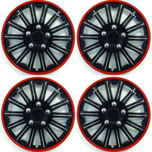 Set of 4 Wheel Trims Draco CS 15/Inch,/Black White