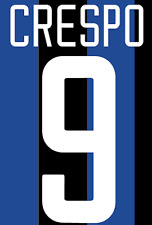 Inter Milan Crespo Nameset Shirt Soccer Number Letter Heat Print Football H 02