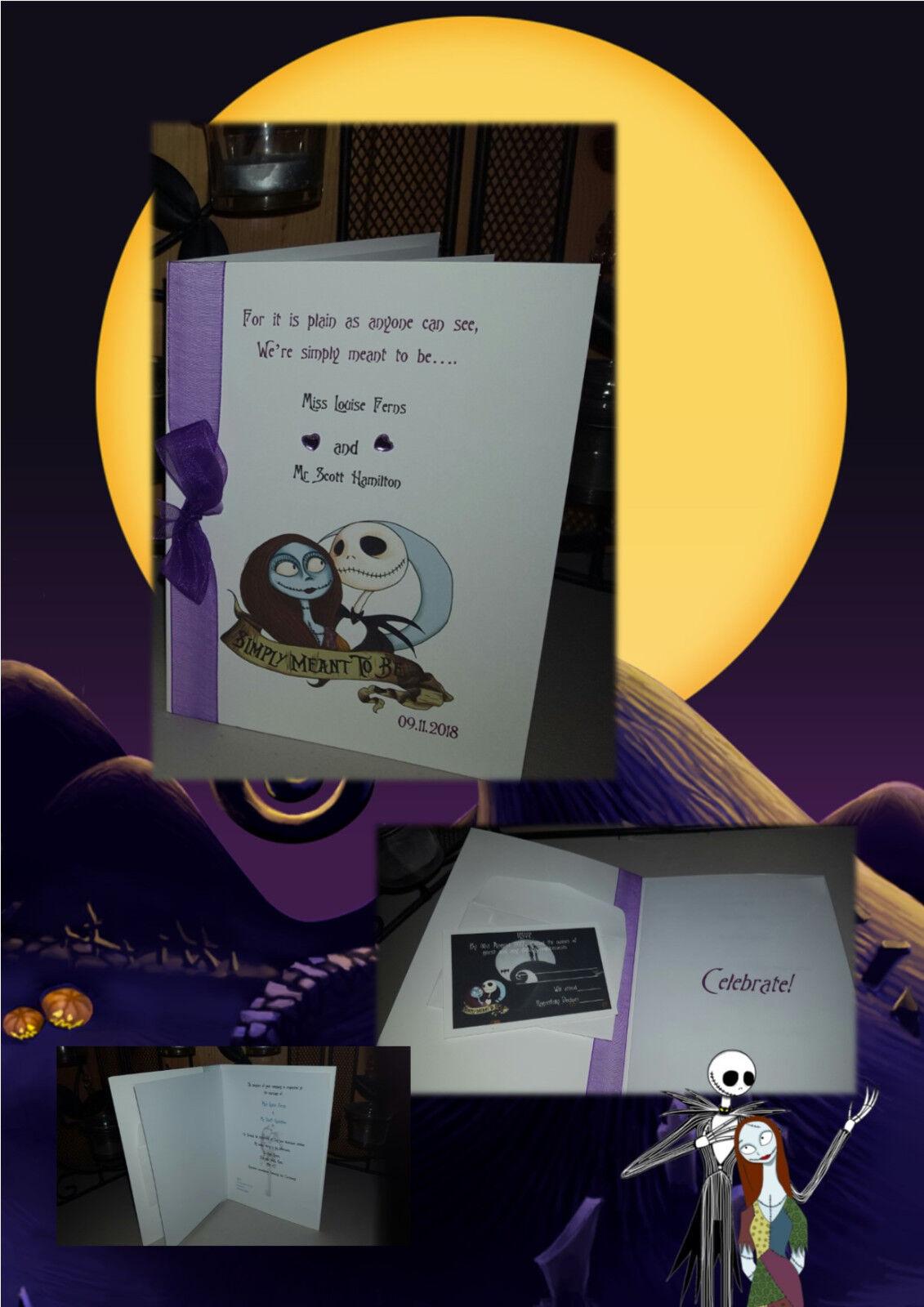 Personnalisé Nightmare invite Before Christmas/gothique à thème mariage/Fiançailles invite Nightmare 1a970a