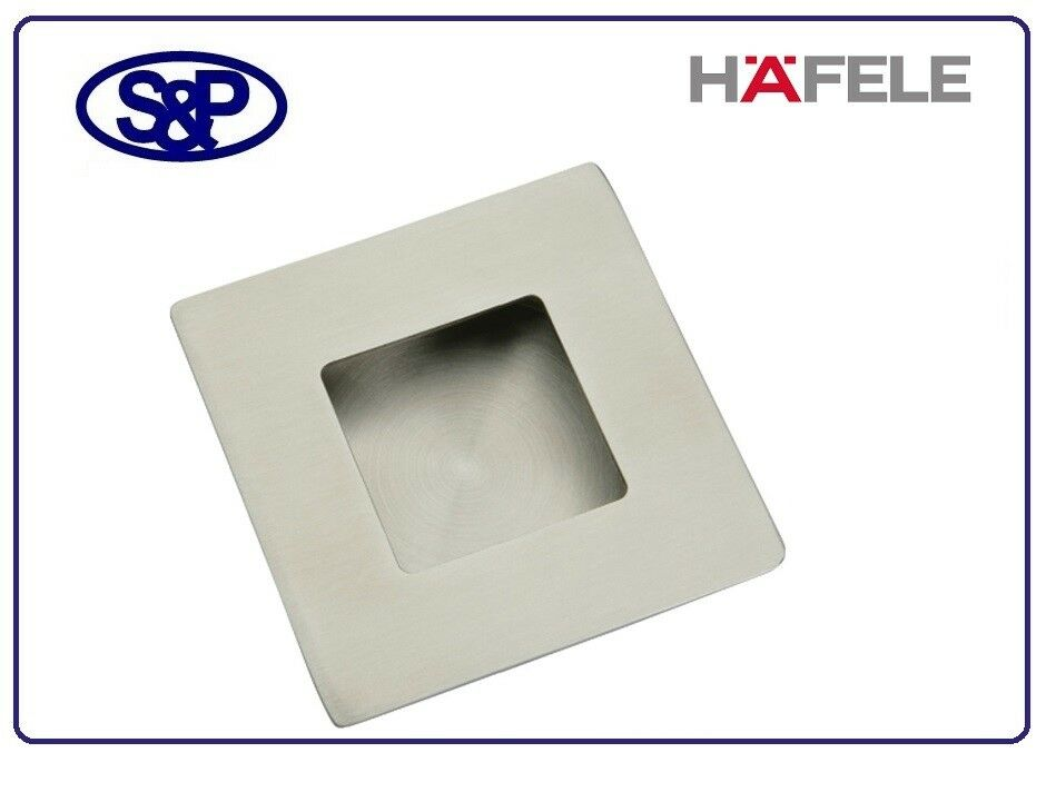 FLUSH PULL SATIN STAINLESS STEEL HAFELE 902.01.260 70MM X 70MM SSS FLUSH PULL