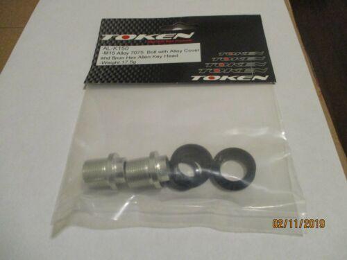 One Set of Aluminium Crank Bolt M15 mm by Token-AL-K150