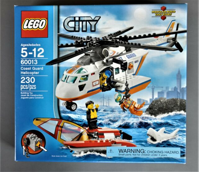 Brand New Lego City 60013 Coast Guard Helicopter Factory Sealed