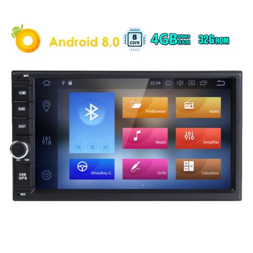 "Octa-Core Android 8.0 4GB RAM 7/"" Double 2DIN Car Stereo Radio GPS Navi DAB TPMS"