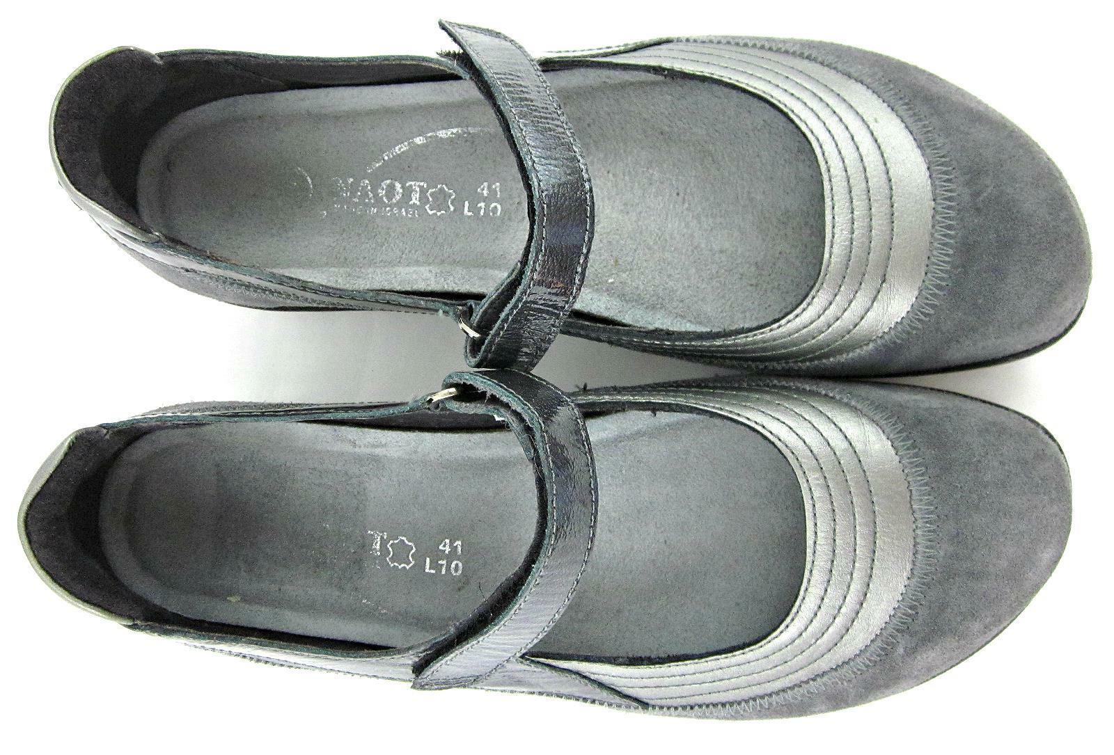 NAOT Sterling 'Kirei' Mary Jane Schuhes Sterling NAOT Gray Leder Sz US 10 Worn Once 999be5