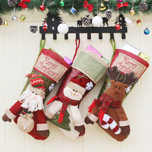 Christmas Stocking Personalized.Details About Christmas Stocking Personalized Reindeer Santa Gift Traditional Snowman Gift Bag