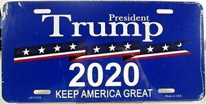 President-Trump-2020-license-plate-Aluminum-auto-tag-Made-in-U-S-A-LP-11710