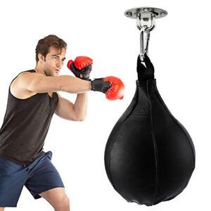 Durable Boxing Hang Punching Bag Speedball MMA Kickboxing Training Ball