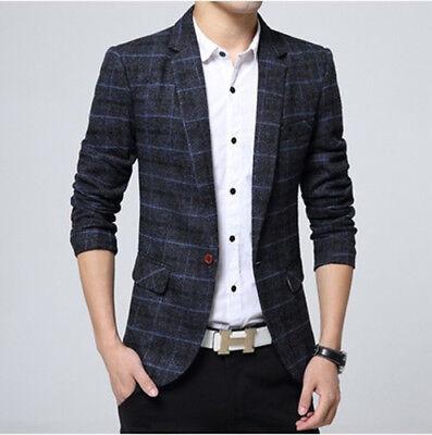 Lieblich Details About High End Fashion Jacket Menu0027s Fashion Casual Slim Fit Formal  Korean Style
