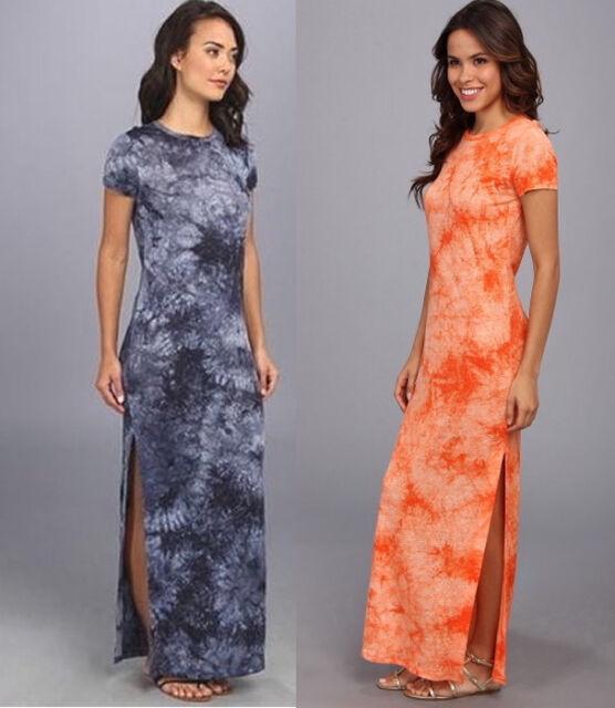 Nwt 120 Michael Kors Tie Dye Maxi Dress Soft Linen Navy Or Poppy