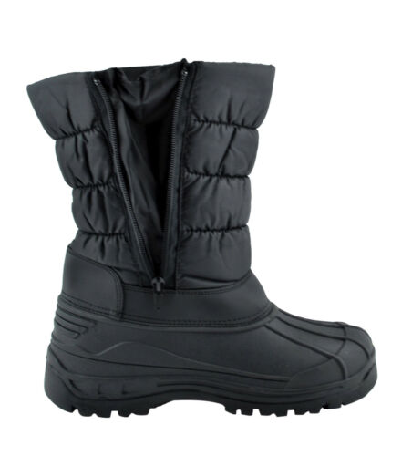 Men/'s Waterproof Warm Insulated Comfort Winter Snow Boots Shoes Zipper Y06//Y07