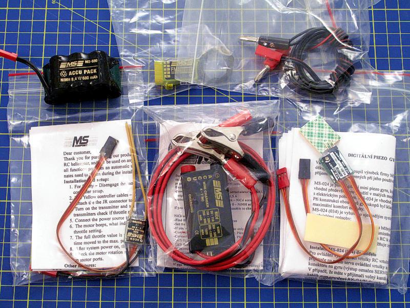 MS Composit Electronic Set For Hornet 40MHz MS-040 modeling