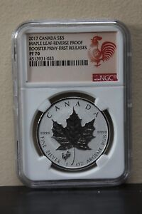2017-Canada-Maple-Leaf-Reverse-Proof-Rooster-Privy-First-Releases-S-5-NGC-PF70