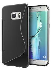 SAMSUNG Galaxy s7 Nero S Line Edge morbida in silicone gel TPU Design Onda [] CASE