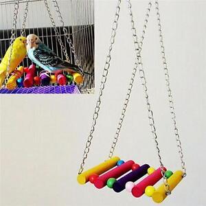 Pet-Bird-Parrot-Parakeet-Budgie-Cockatiel-Cage-Hammock-Swing-Toy-Hanging