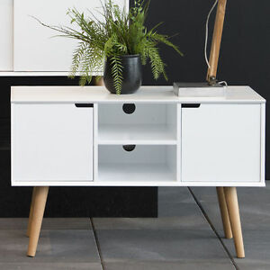 Image Is Loading Small White Sideboard Stand Tv Unit Storage Cabinet