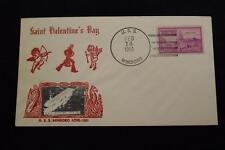 NAVAL COVER 1951 SHIP CANCEL ST VALENTINE'S DAY USS MINDORO (CVE-120) (757)
