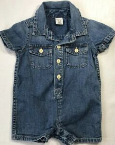 Baby-Gap-Boys-0-3-Months-Blue-Denim-Shorts-Romper