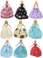 5 Pcs Cloth For Barbie Wedding Dress,9 Shoes,3 Mirror,hangers, Dress For Barbie