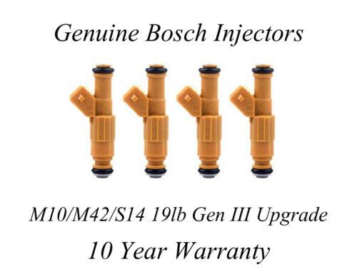 BMW E30 M10 M42 S14 19lb Injector Upgrade Genuine Bosch Gen III yellow